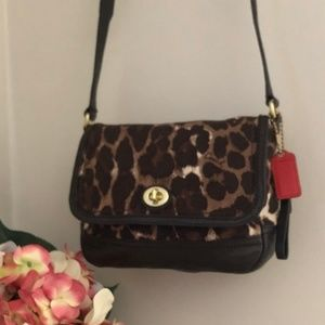 Coach Crossbody Bag 24103 Park Ocelot Purse *58*